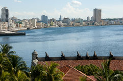 Battery of the Twelve Apostles at Morro Castle - Havana - Cuba. Battery of the Twelve Apostles at Morro Castle in Havana - Cuba Stock Images