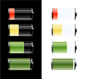 Battery with various loads Royalty Free Stock Image