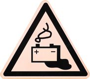 Battery Warning Sign Stock Photos
