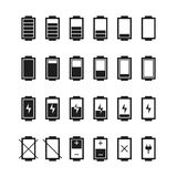 Battery web icons,symbol,sign in flat style. Stock Photo