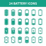 Battery web icons,symbol,sign in flat style. Royalty Free Stock Image
