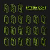 Battery web line icons, symbol, sign and design Royalty Free Stock Image