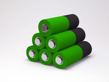 Battery on white background. 3d Image Stock Images