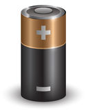 Battery. A battery on a white background, created in a vector illustration