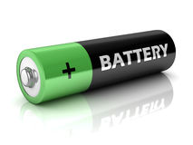 Battery  on white background. 3d battery  on white background Stock Image