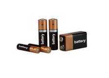 Battery on white background, isolated Royalty Free Stock Image