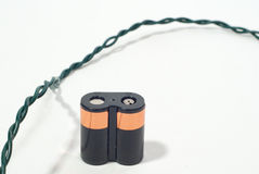 Battery and wire Stock Photo