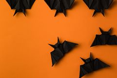 Battes d'origami pour Halloween Photos stock