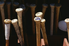 Battes de baseball Images stock