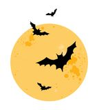 Battes. Illustration de vecteur de Halloween Photo stock