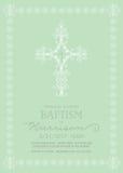 Battesimo, battesimo, prima comunione, modello dell'invito di conferma Fotografia Stock Libera da Diritti
