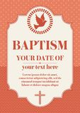 Battesimo del cristiano della cartolina Certificato di congratulazione dell'invito royalty illustrazione gratis