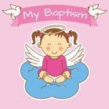 Battesimo della ragazza royalty illustrazione gratis