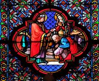 Battesimo di Clovis, primo Christian King della Francia immagine stock