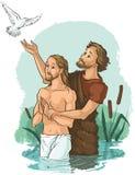 Battesimo di Jesus Christ illustrazione vettoriale
