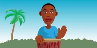 Batteur africain Image libre de droits