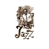 Batteur d'aquarelle de jazz-band Personnes créatives Images libres de droits