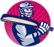 Batteur de joueur de cricket Photographie stock