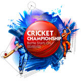 Batteur et lanceur jouant des sports de championnat de cricket illustration de vecteur