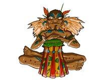Batteur tribal indigène Illustration de Vecteur
