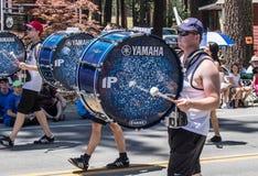 Batteurs au défilé de vallée de Mohawk Photos stock