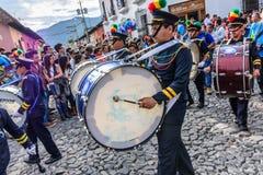 Batteurs de Jour de la Déclaration d'Indépendance, Antigua, Guatemala photos libres de droits
