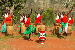 Batteurs du Burundi Images stock