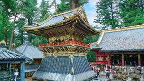 Battez du tambour de la tour (Koro) au tombeau de Tosho-GU à Nikko, Japon image libre de droits