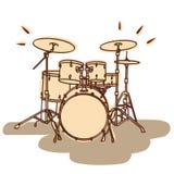 Battez du tambour du positionnement illustration de vecteur