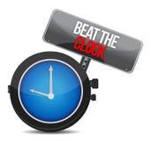 Battez le concept d'horloge Images libres de droits