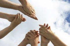 Battez vos mains ! ! Images libres de droits