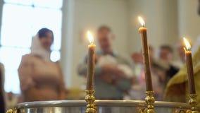 Battezzare la fonte di cerimonia stock footage