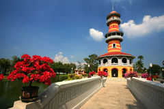 Batti il dolore Aisawan, il palazzo di estate rayal, Tailandia Fotografia Stock Libera da Diritti