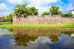 Batticaloa Fort, Sri Lanka. The Batticaloa Fort is the old portuguese fort in the center of Batticaloa city, Sri Lanka stock photo