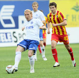Battimenti Alania (Vladikavkaz) di Dinamo (Mosca) - (2: 0) fotografia stock