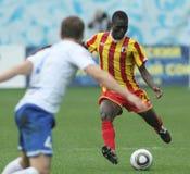 Battimenti Alania (Vladikavkaz) di Dinamo (Mosca) - (2: 0) fotografia stock libera da diritti