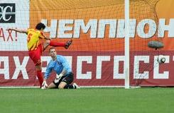 Battimenti Alania (Vladikavkaz) di Dinamo (Mosca) - (2: 0) immagini stock