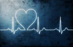 Battimento di cuore Grungy Fotografia Stock Libera da Diritti