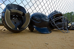 Batting Helmets Royalty Free Stock Photos