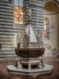 Battisteria in The Cathedral duomo in Orvieto Umria, Stock Photos