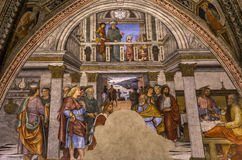 battistero二圣乔凡尼,锡耶纳,意大利的细节 免版税图库摄影