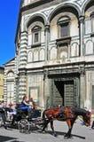 Battistero二圣乔瓦尼在佛罗伦萨,意大利 库存图片
