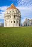 Battistero, cattedrale e beltower di Pisa, Toscana, Italia Immagini Stock Libere da Diritti