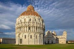 Battistero, cattedrale e beltower di Pisa, Toscana, Italia Fotografie Stock Libere da Diritti