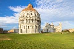 Battistero, cattedrale e beltower di Pisa, Toscana, Italia Fotografia Stock Libera da Diritti