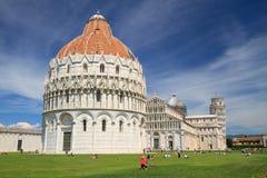 Battistero della st John Battistero di San Giovanni a Pisa, Tus Fotografia Stock