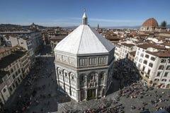 Battistero Di San Giovanni, in Florence, Italië Royalty-vrije Stock Foto's
