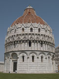 Battistero and Leaning Tower in Pisa Italy.  Royalty Free Stock Photography