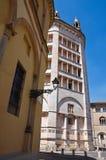 Battistero. Parma. L'Emilia Romagna. L'Italia. Fotografia Stock Libera da Diritti