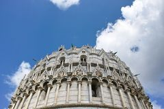 Battistero. The Battistero at Piazza dei Miracoli in Italy Stock Image